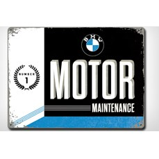 "BMW ""Motor Maintenance"" skilt"