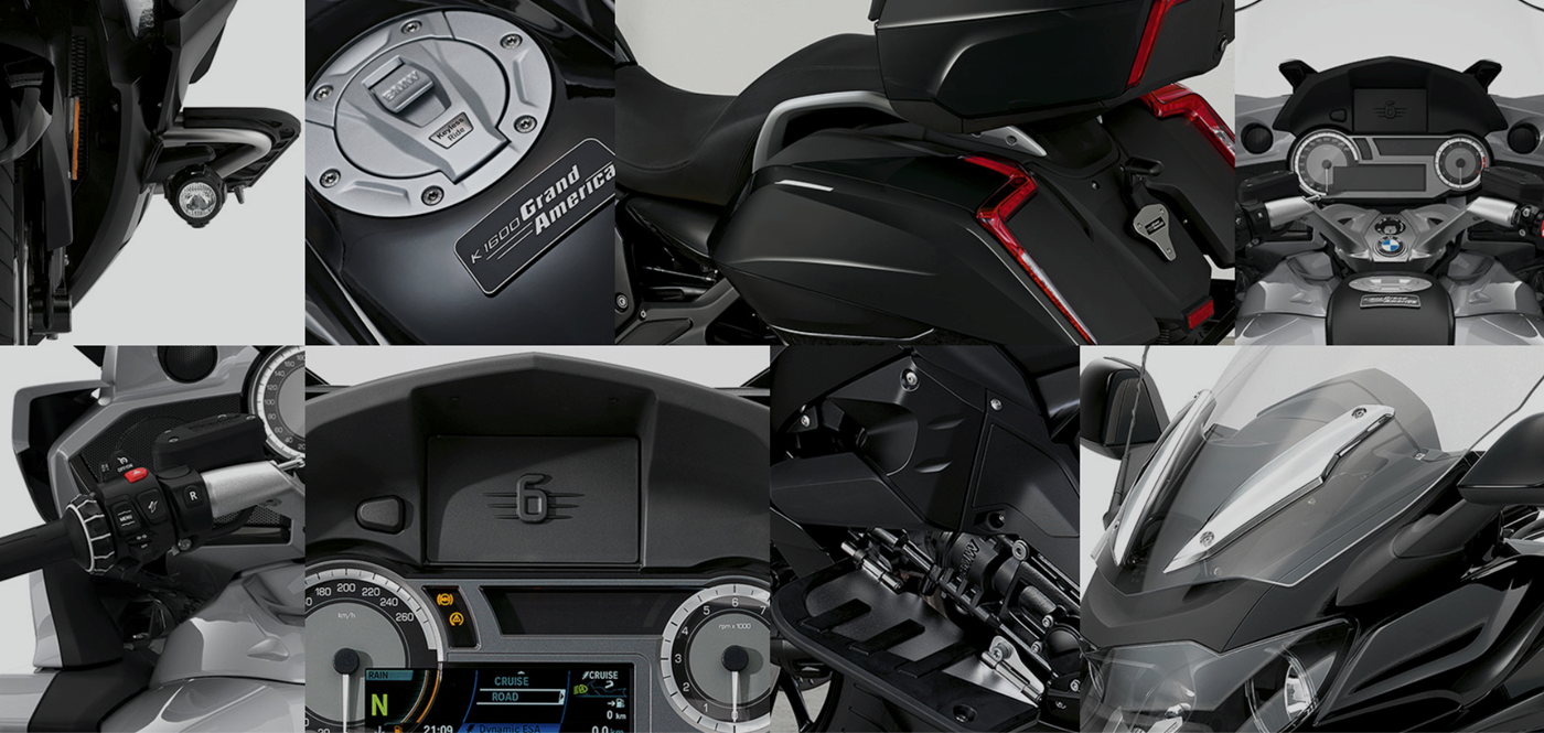 BMW K 1600 Grand America sort detaljer